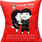 Red Hug Pillow